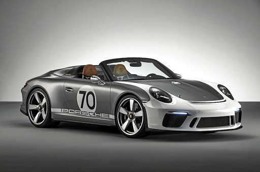 Porsche revealed the Speedster Concept as part of its 70th anniversary celebrations. Picture: PORSCHE