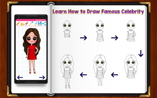 Learn How to Draw Chibi Famous Celebrities 1.2.2 screenshots 1