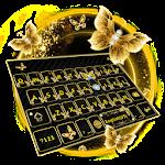 Gold Butterfly Kika Keyboard Icon