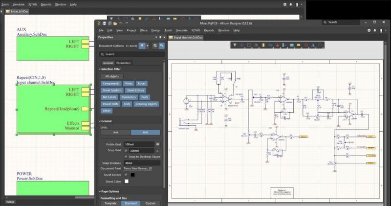 Connection room with hierarchical schematic design in Altium Designer