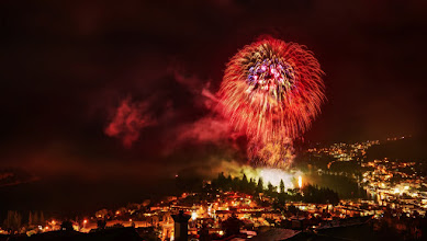 Photo: Happy New Year 2013 from New Zealand!  The fireworks went off here just recently at midnight... and now it's 2013! I came home to process this photo to share with you... went to a little party atop the hill that had a nice vantage point of our little town below.  Happy 2013! :)