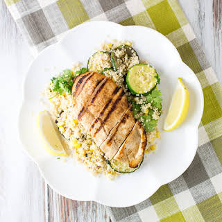 Spicy Chicken, Corn and Couscous Salad.