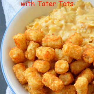 Apple Cider Mac & Cheese With Tater Tots