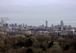 Photo: View of Boston from the Mount Auburn Cemetery