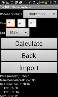RunCalc - Running Calculator - náhled