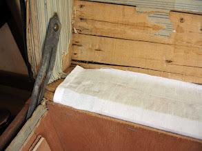 Photo: l'intérieur est doublé avec du ctp.