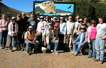 Photo: The field trip participants gather at the start of the day's activities.  (Photo courtesy of Shirley.)