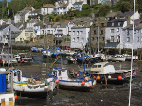 Photo: The next morning the tide is out in Polperro ...