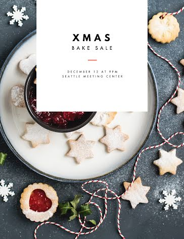 Christmas Bake Sale - Christmas Template