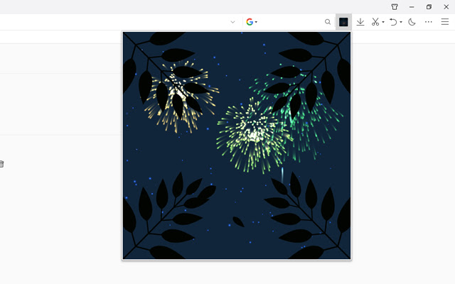 Leaf fireworks