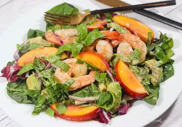 Caribbean Shrimp & Nectarine Salad