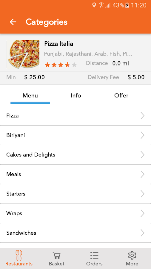 Customer APP - Come N Eat- screenshot