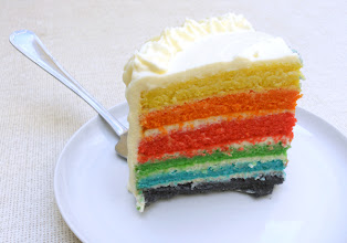 Photo: Rainbow cake-http://www.sugarplacesevilla.blogspot.com.es/2012/05/rainbow-cake.html-Maria jose y monica-Sevilla-Canon 1000D