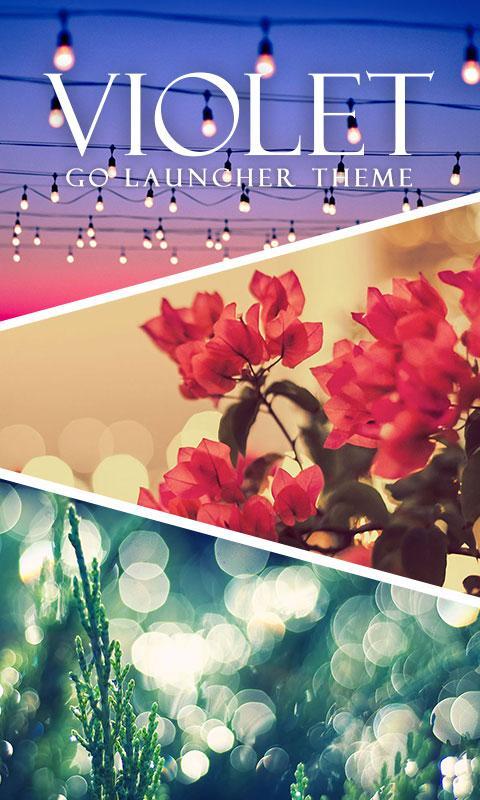 Скриншот Violet GO Launcher Theme