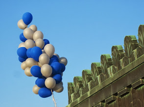 Photo: Happy birthday Griffith Observatory! Birthday balloons attached to the copper cupola over the central rotunda