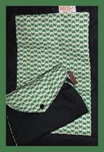 "Photo: Japanese Import Fabric ""Croak"" customized Beco Butterfly on black straps custom Mai Poketto"