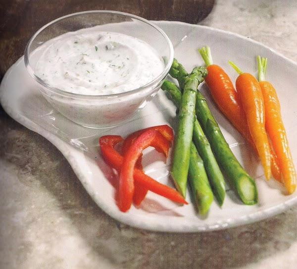 Vegetable Crudities With Jalapeno Dipping Sauce Recipe