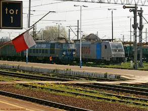 Photo: ET22-2034 i E 186 141-8 (Lotos Kolej, dzierżawa od Railpool) {Gniezno; 2013-05-04}