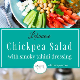 Lebanese Chickpea Salad with Smoky Tahini Dressing.