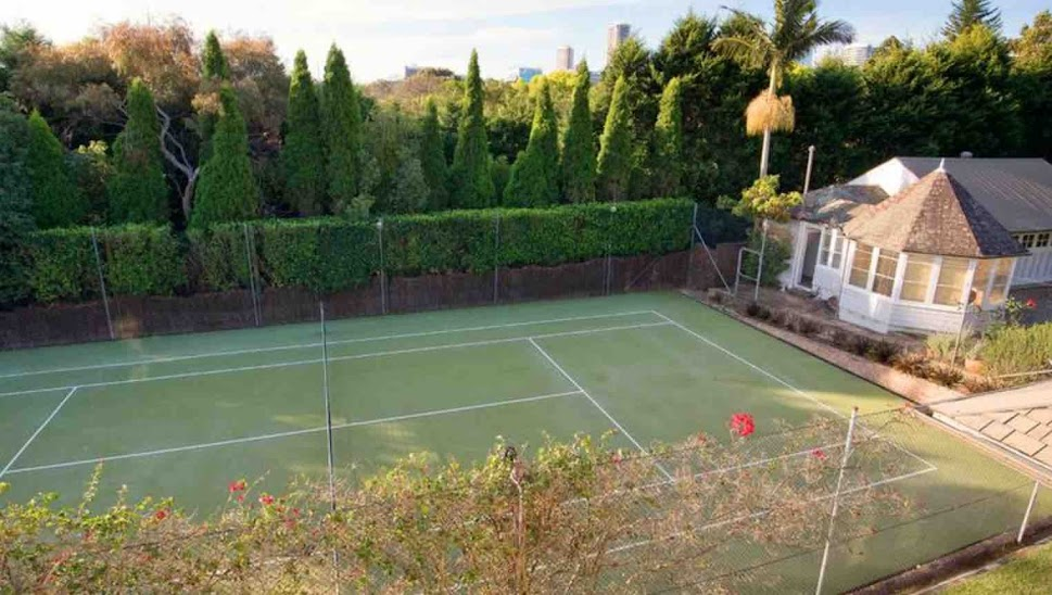 The missing tennis court at Niddire, now available for building a new home next door