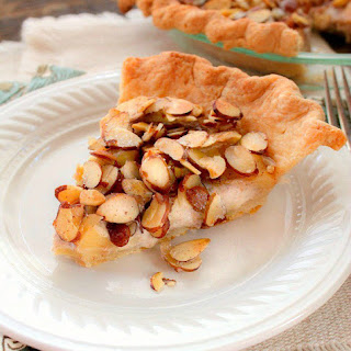 Apple Almond Custard Pie.