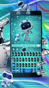 Ai Tech Robot 4k Keyboard Theme - náhled