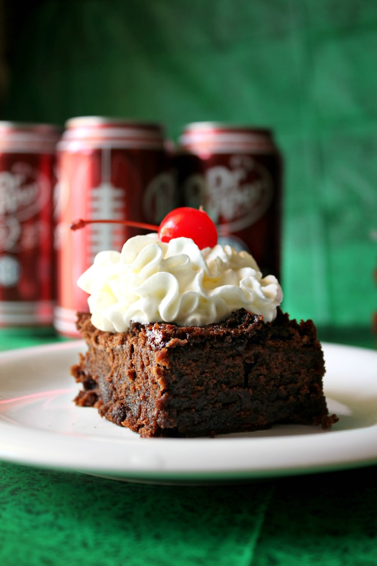 2 Ingredient Dr. Pepper® Brownies  #CollegeFootballChampsSweeps #ad