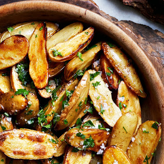 Lemon and Parsley Skillet-Roasted Fingerling Potatoes.
