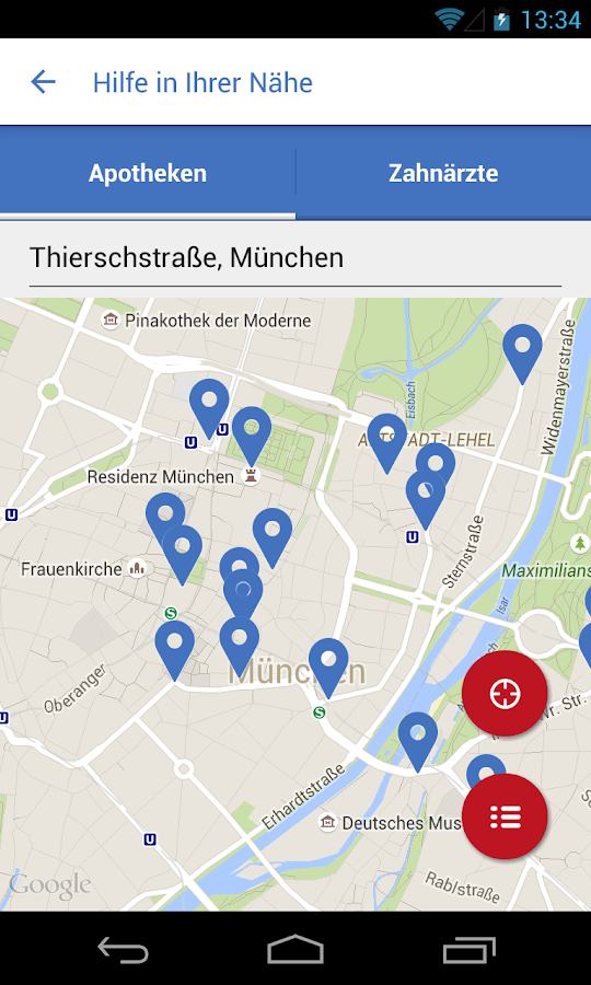 Notdienste-Finder Bayern – Screenshot
