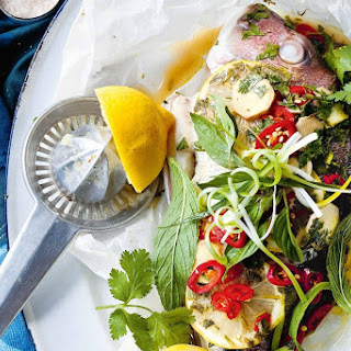 Whole Baked Snapper With Ginger And Chilli