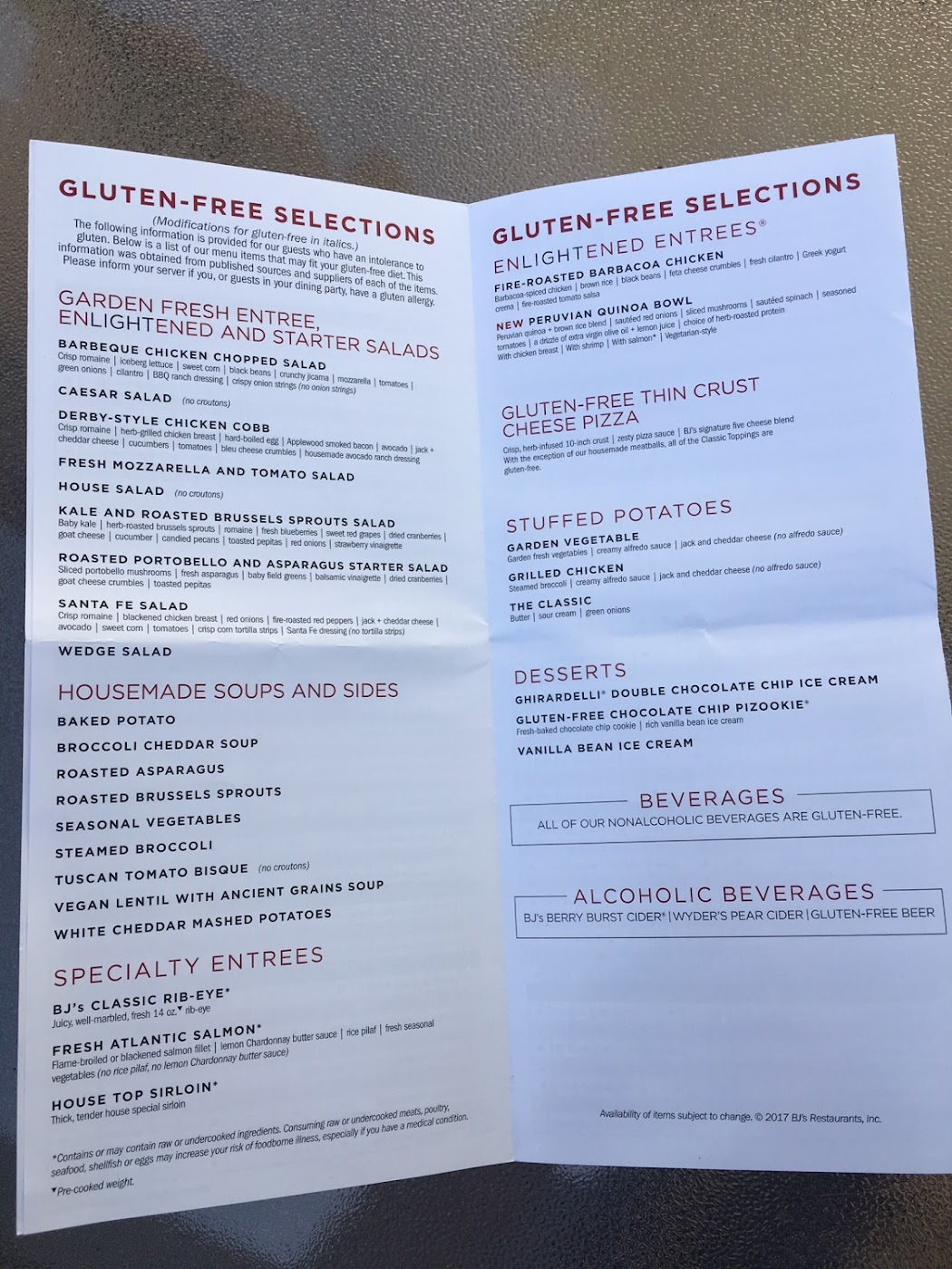 Bj S Brewhouse Gluten Free Mobile 2020