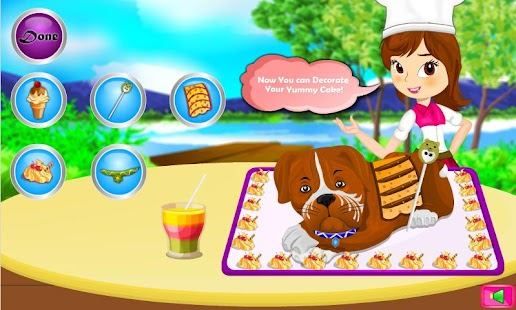 Boxer Dog Cake Cooking Game- screenshot thumbnail