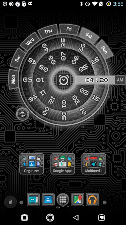 PCB Black ⁞ TSF Shell 3 Theme- screenshot
