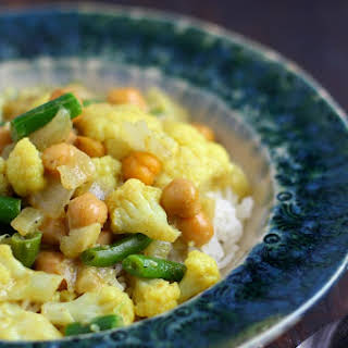 Green Bean and Cauliflower Curry..