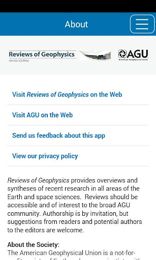 Reviews of Geophysics