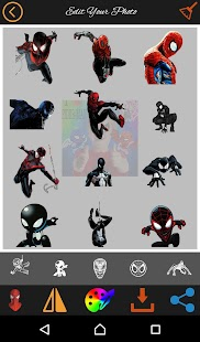 Spidy photo editor stickers & emoji - náhled