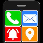 Senior Safety Phone - Big Icons Launcher 3.3