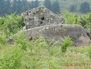 Photo: Dolmen renversé sur le col