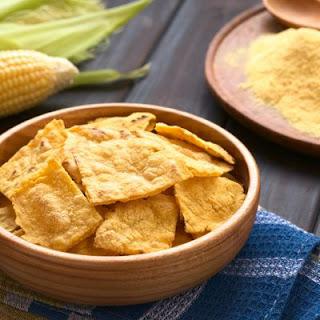 Garlicky Baked Pita Chips