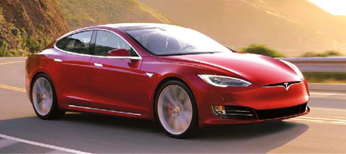 Tesla Model S Rouge