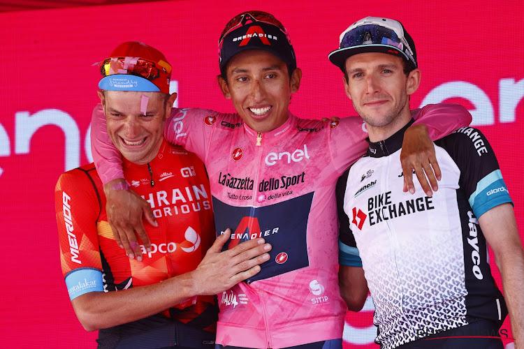 """Ook andere podiumrenners in Giro nemen vrede met hun resultaat: """"Egan Bernal heeft dat met succes gedaan"""""""