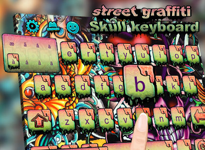 Street graffiti skull keyboard- screenshot thumbnail