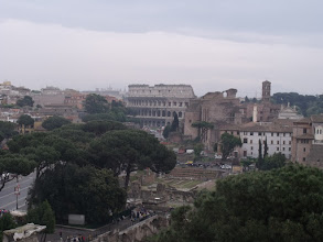 Photo: The Colosseum in the distance.