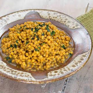 Instant Pot Cumin Turmeric Wheat Berry Pilaf.