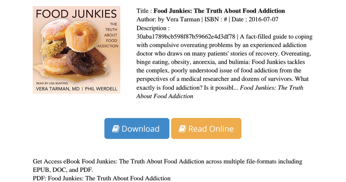 Food junkies truth about addiction 30aba1789bcb598f87b59662e4d3df78 food junkies truth about addiction 30aba1789bcb598f87b59662e4d3df78pdf google drive forumfinder Images