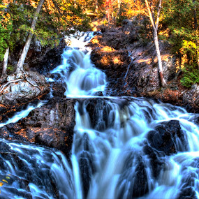 Falls by Philip O'Brien - Landscapes Waterscapes ( water, stream, waterfalls, hdr, falls, forest, river,  )