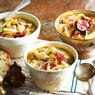 Crab And Clam Chowder With Chorizo