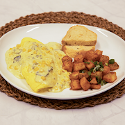 Rajas and Cream Omelet