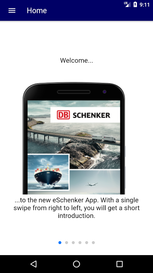 eSchenker- screenshot