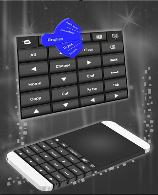PC-like Keyboard Black Theme - screenshot